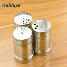 New 1PCS Stainless Steel Salt Spice Shaker Bottle For Kitchen Cooking BBQ Storage Gadget Jar