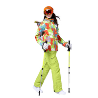 Для женщин лыжный костюм открытый теплый ветрозащитный Водонепроницаемый быстрое высыхание дышащий лыжная куртка брюки на подтяжках Для ж