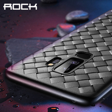 High Quality TPU Phone Case for Samsung Galaxy S9 Plus, ROCK Ultrathin Weaving Protective Bag S9+