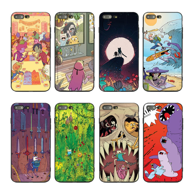 aiboduo adventure time Soft TPU Silicone Case Cover For iphone XSmax XR XS X 7 7plus 8plus 8 6 6s 5 SE