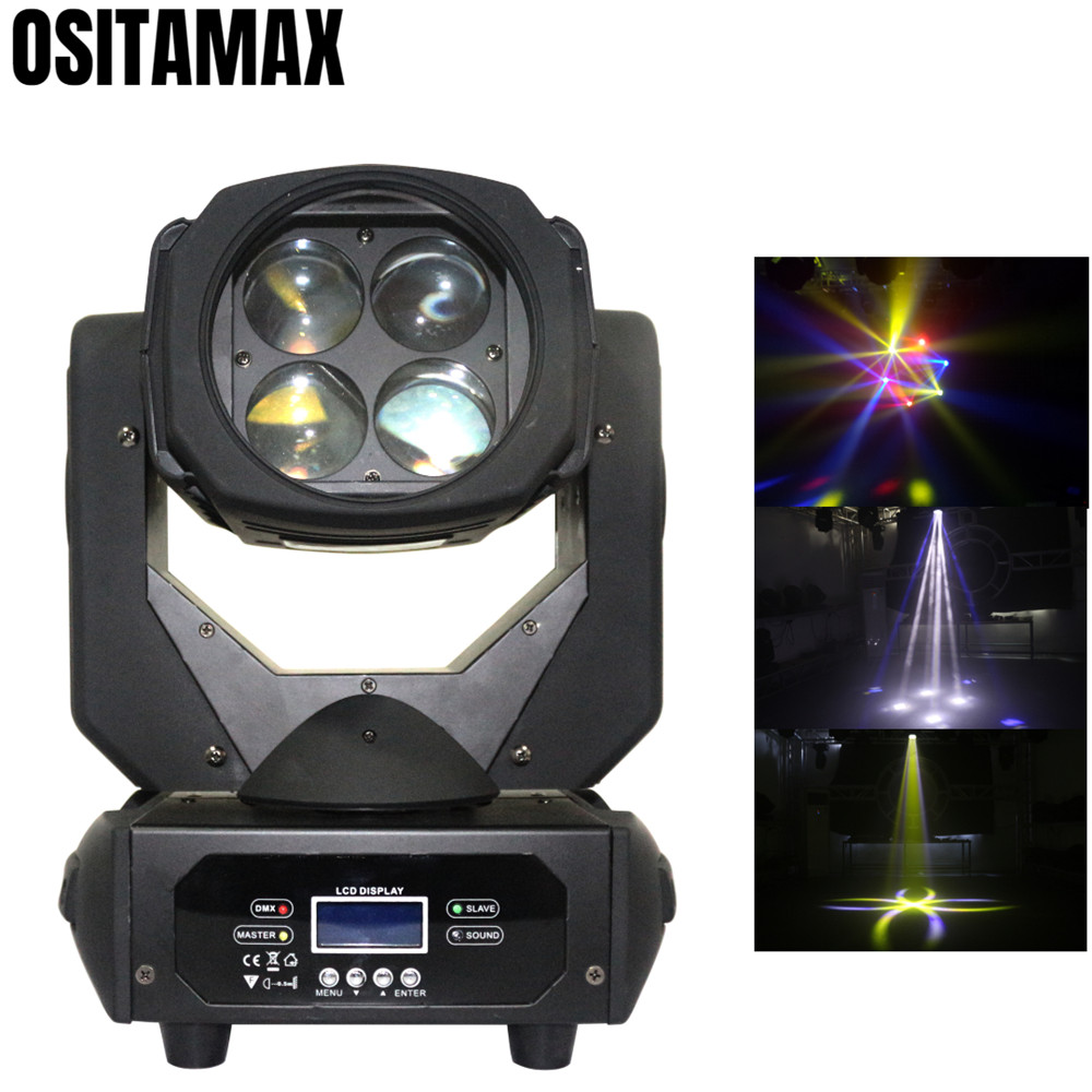 Mini LED Beam Moving Head Light 4x25w RGBW 4IN1 Color Change Stage Party Lighting DMX Disco LightMini LED Beam Moving Head Light 4x25w RGBW 4IN1 Color Change Stage Party Lighting DMX Disco Light