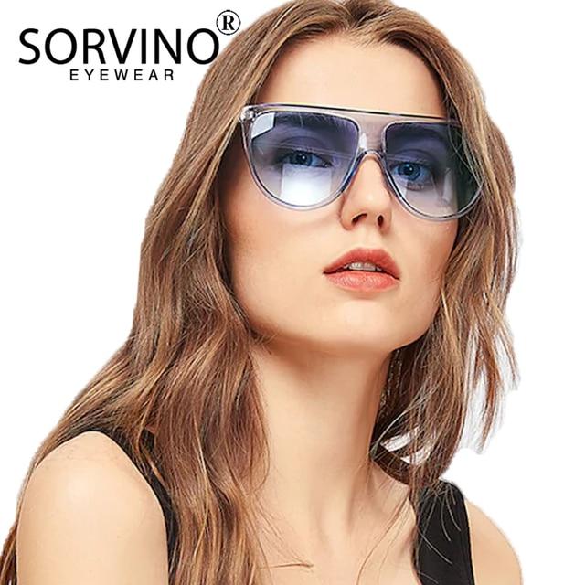 cec661c05a0d1 SORVINO Clear Oversized Square Sunglasses 2018 Women Men Luxury Brand  Crystal Retro Kim Kardashian 90s Sun