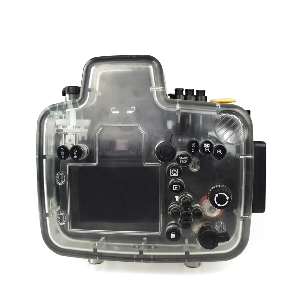 Seafrogs For Canon 80D 18 135mm Frofessinal Waterproof Case Underwater Diving Photography Sport Camera Housing Accessories Cover in Sports Camcorder Cases from Consumer Electronics