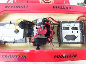 Barca A Gas | G26IP1 Artr Benzina 26CC-Clutch Motore Rc Barca Di Corsa Profondo-V Albero Timone Rosso TH02723