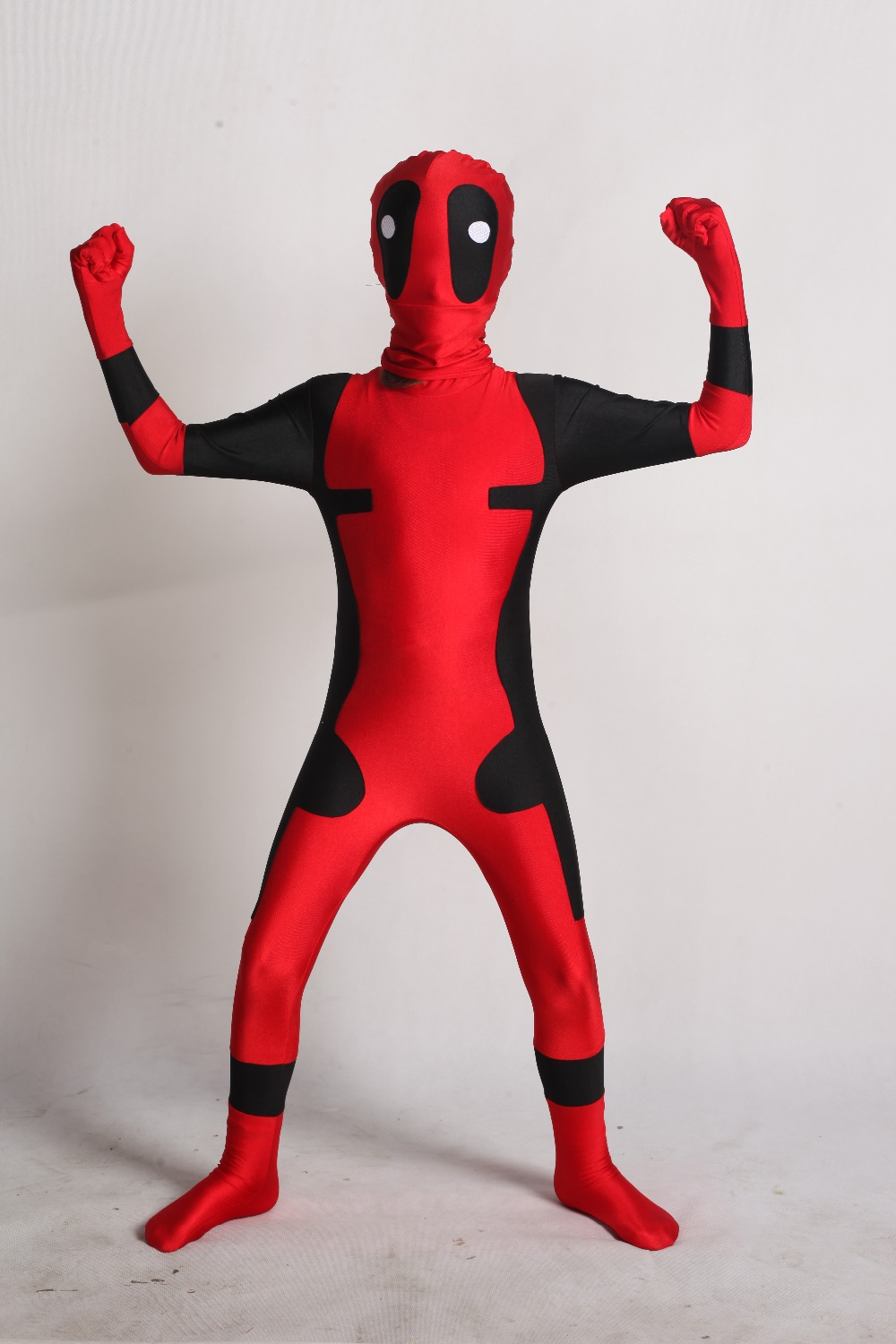 Kid Deadpool Costume with Mask Superhero cosplay Suit Boy Jumpsuit Full Bodysuit Halloween kid costumes for party