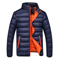 Large Size Men's Down Jacket Winter Warm Lightweight Windproof Outwear Down Coat Solid Color Warm Parka Coats Male Jackets Y2117