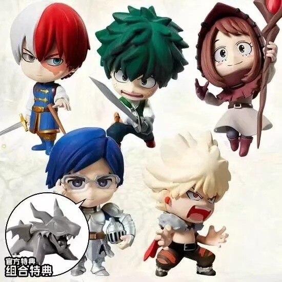 7cm 5 pçs/set Meu Herói Academia Iida Tenya Todoroki Shoto Bakugou Katsuki Midoriya Izuku OCHACO URARAKA figura de Ação brinquedos
