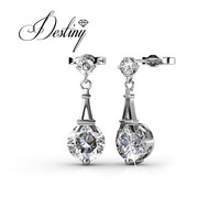 Destiny Jewellery Crystals From Swarovski Earrings Made With Nickel Free 18K Gold Plating DE0178