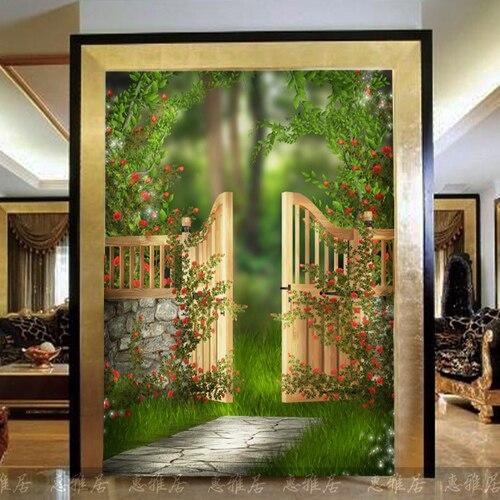 door mural background entrance living scenery aisle dream shipping custom
