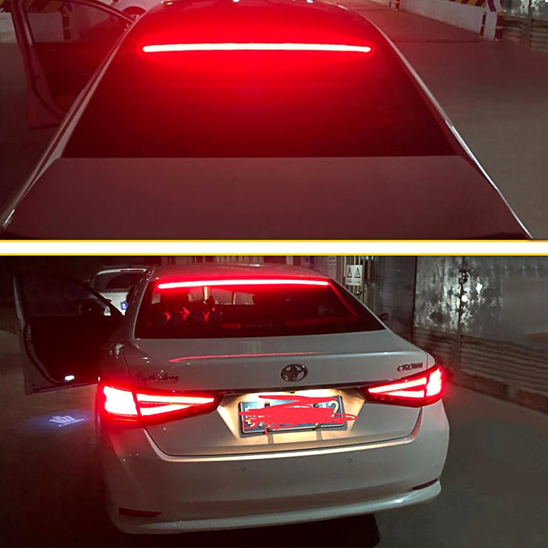 US $16 21 27% OFF|for City Accord CR V CRX Auto Super Bright Red Flowing  Flashing Car Third Brake Light LED Light Rear Tail High Mount Stop Lamp-in