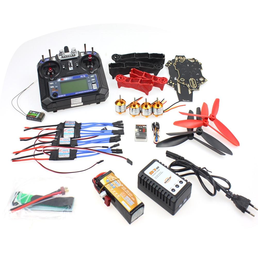 Unassembled Q330 Frame QQ Super Controller Motor ESC with Flysky FS-i6 6CH Transmitter for DIY RC Drone Racer Aircraft F11797-J f14892 f diy rc drone quadcopter rtf x4m360l frame kit with qq super flight control motor esc flysky fs i6 transmitter battery