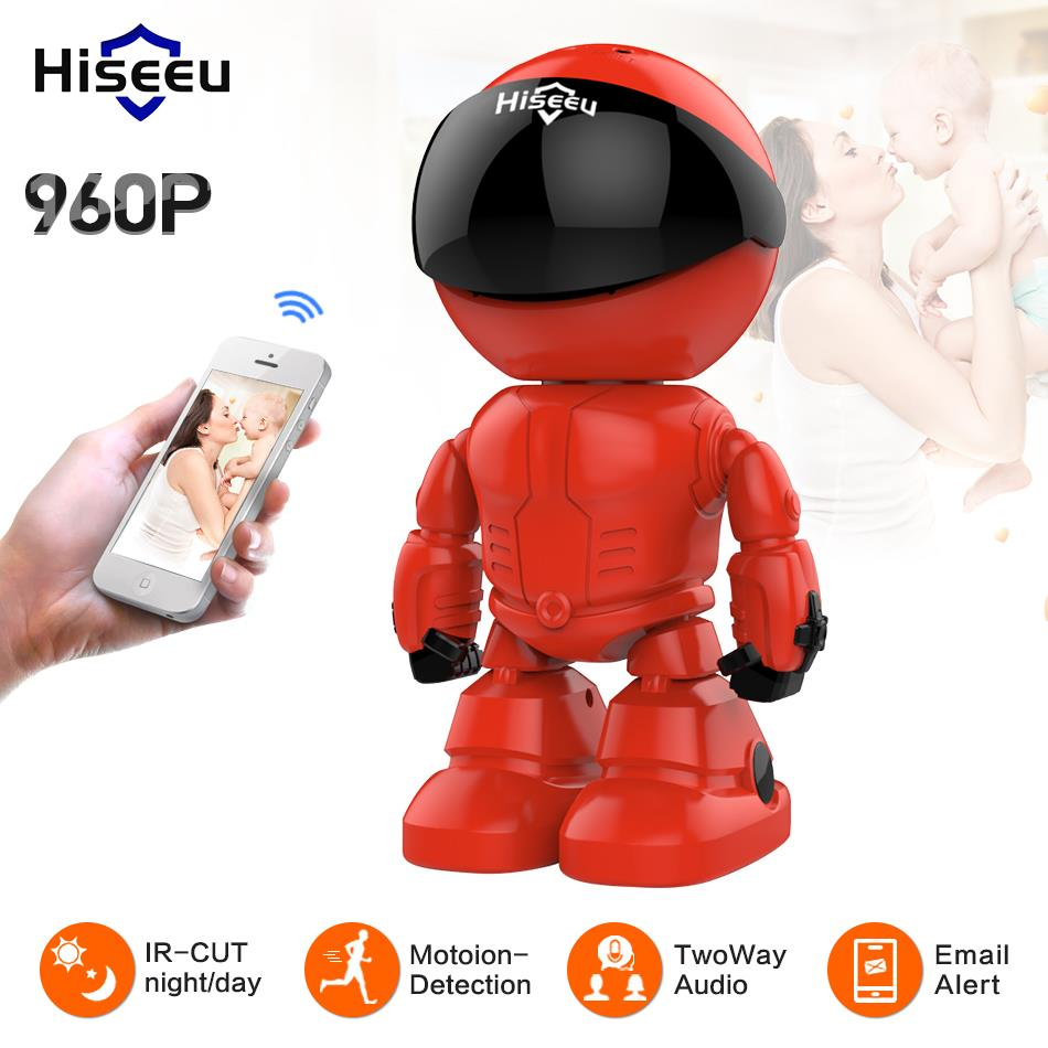 Hiseeu Wireless Robot IP Camera 960P WIFI CCTV HD Baby Monitor Remote Control Home Security camera network wi-fi two way audio цена