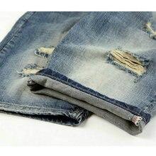 DIMUSI summer denim shorts male jeans men jean shorts bermuda skate board harem mens jogger ankle ripped wave 38 40,PA028
