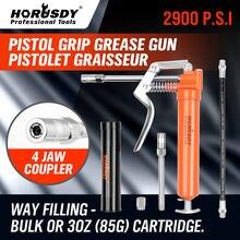 Купить с кэшбэком HORUSDY 120CC Mini Grease Gun Pistol Grip One Handed Grease Greasing Lube Tool For Auto Repair Lubrication Vehicle Hand Tool Set