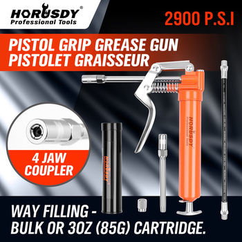 цена на HORUSDY 120CC Mini Grease Gun Pistol Grip One Handed Grease Greasing Lube Tool For Auto Repair Lubrication Vehicle Hand Tool Set