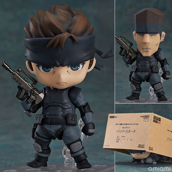 New Nendoroid 447 METAL GEAR SOLID Solid Snake PVC Action Figure 10CM Model Gifts New In Box hot new фигурка героя мультфильма brand new nendoroid action figure