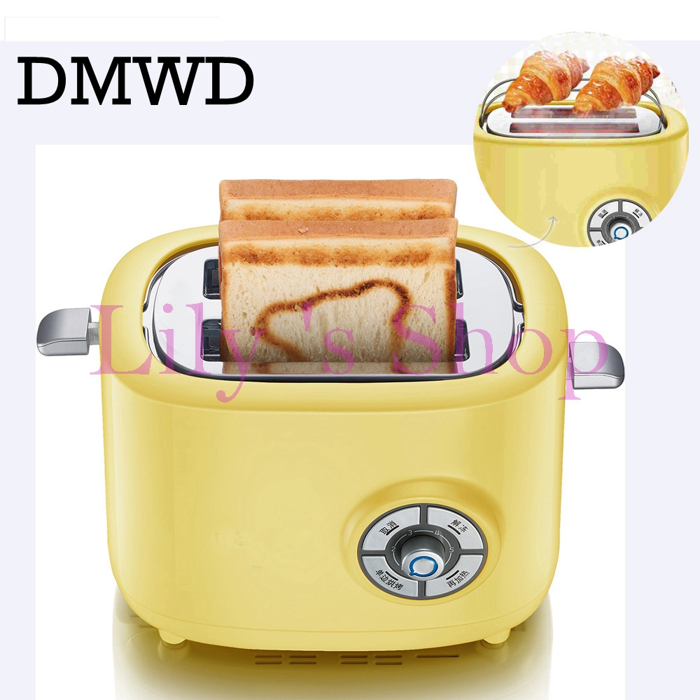 DMWD MINI Household electrical Toaster Breakfast 2 slices Bread baking Maker automatic breakfast Machine Toast oven grill EU US