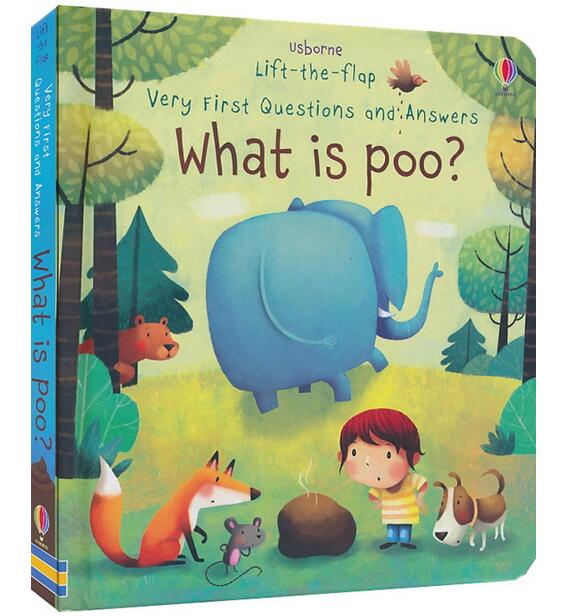 3D Usborne Lift The Flap Very First Questions And Answers What Is Poo Flip Picture Board Book Kids Children Early Education