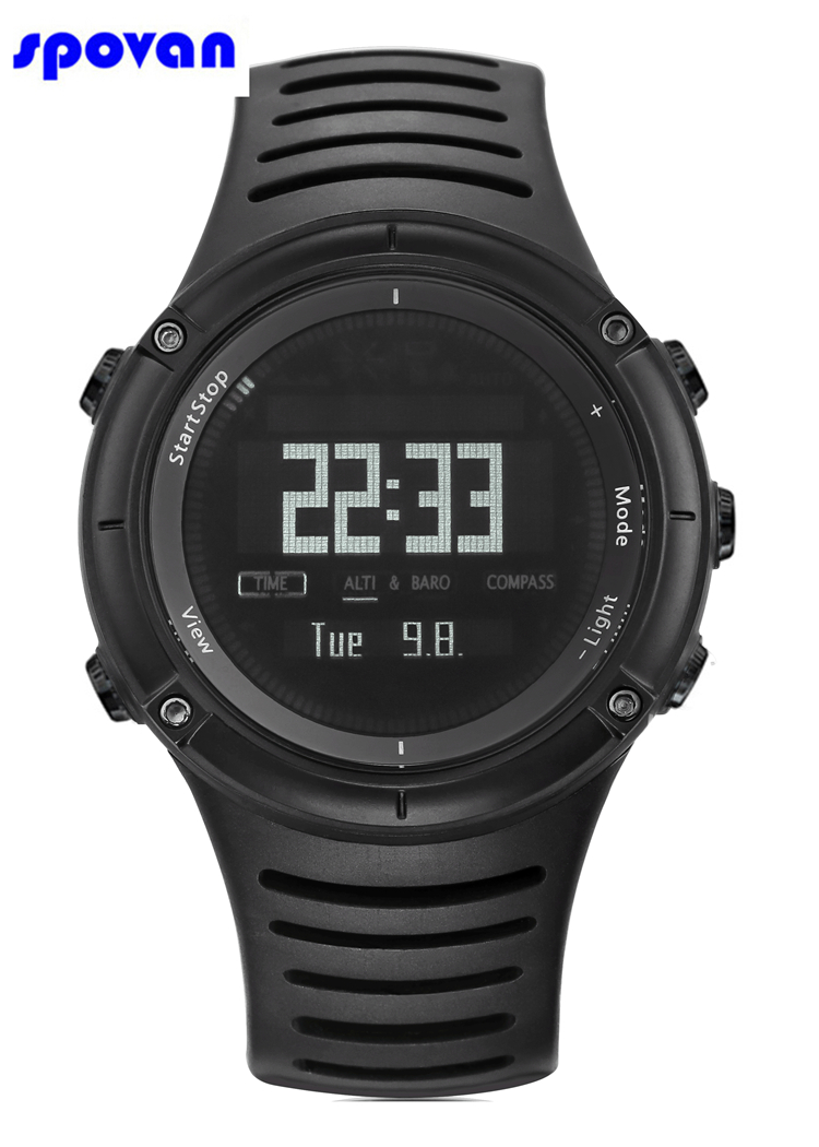 Men's Watches Spovan Gps Sport Watch Bluetooth 4.0 Chest Strap+waterproof Heart Rate Monitor Calories Counter Fitness Clock Saat Montre Homme Latest Technology