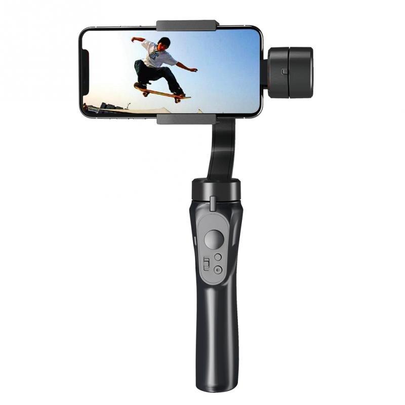 Stabilisateur de téléphone intelligent lisse 4 H support stabilisateur de cardan de poche pour iPhone Samsung Galaxy Huawei caméra d'action