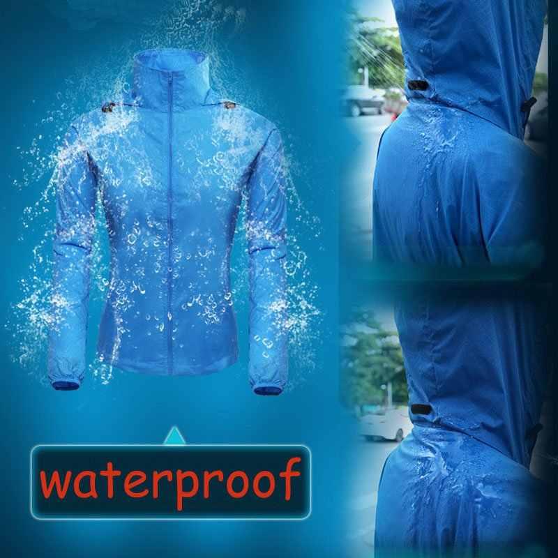 Frauen Männer outdoor Langarm T-shirts Dünne Wasserdichte Anti UV Sonnenschirm Quick Dry Zipper Sweatshirt Tops Bekleidung Sportswear