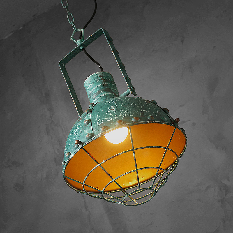 Loft American industrial corridor restaurant style droplight balcony individuality creative stage, wrought iron lamps industrial lamps and lanterns of wind loft balcony corridor creative american restaurant wall lamp wrought iron bar counter