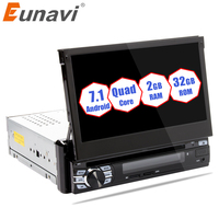 Eunavi RAM 2G Single 1 Din 7 Android 7.1 Car Dvd GPS Navigation Radio Stereo Universal Head Unit With Wifi Touch Screen BT RDS
