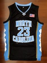 55b1cff50 EJ Michael Jordan  23 University Of North Carolina Camisa De Basquete  Costurado Preto