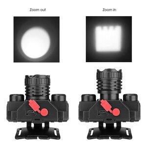 Image 4 - USB مصباح COB قابل للشحن LED كشافات المصباح 90 درجة دوارة رئيس مصباح الشعلة مصباح يدوي مقاوم للماء الصيد والمشي لمسافات طويلة
