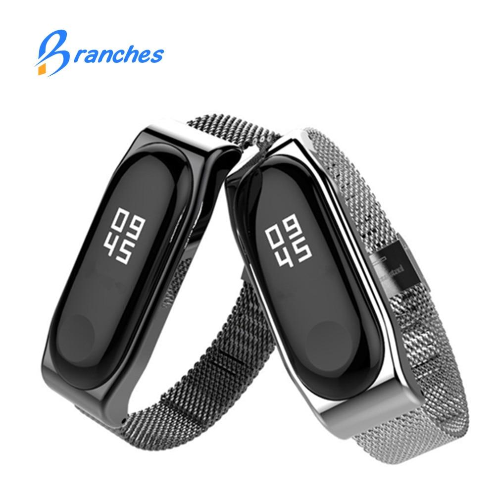 mi band 3 bracelet for Xiaomi mi band 3 Metal Strap wrist strap Screwless Stainless Steel Bracelet Wristbands MiBand 3 strap