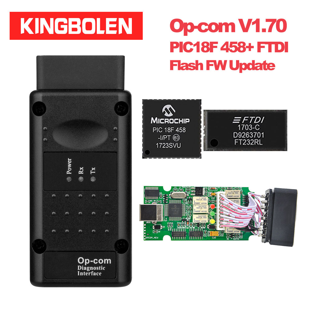 medium resolution of kingbolen opcom v1 70 pic18f458 ftdi chip flash fw update auto diagnostic tool for opel can bus obdii code reader op com op com