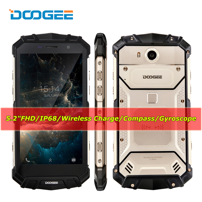 DOOGEE S60 Lite IP68 Smartphone 4GB RAM+32GB ROM Octa Core Celular Android 7.0 12V 2A 5580mAh 16MP 5.2FHD Waterproof 4G Phone