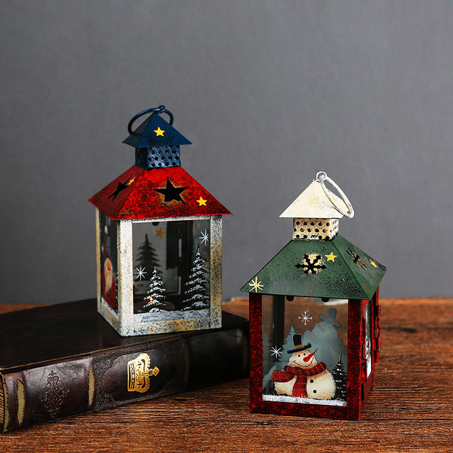 europe style wrought iron windproof candle holder courtyard hurricane lamp christmas storm lantern home wedding decoration