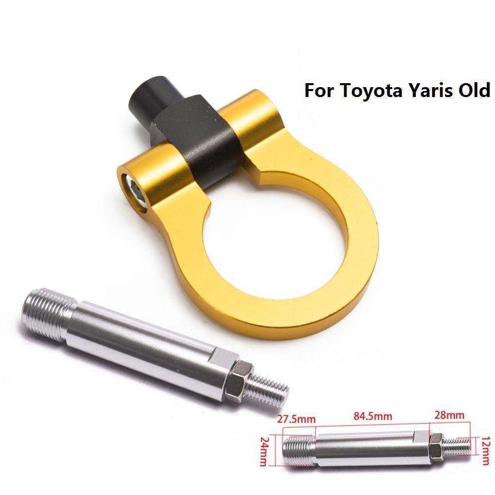 Спортивный EPMAN Jdm Алюминиевый Forge передний фаркоп передний задний для Toyota Yaris старый EP-RTHLPH007 - Название цвета: Золотой