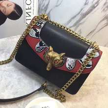 Europa Caliente 2017 Fox Remache Messenger Bag Famoso Diseñador Hit Color Mini Bolsos Crossbody De Las Mujeres Bolsos de Alta Calidad Bolsa Femme