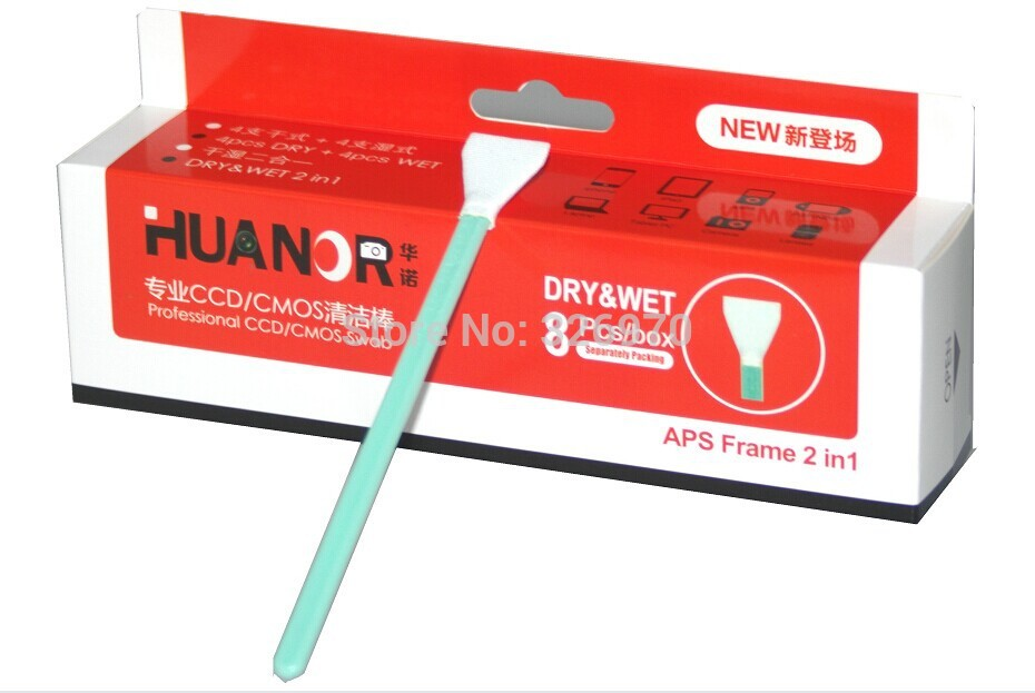 Sensor Cleaner Cleaning Kit 8pcs/box Wet and dry SWAB CMOS CCD for Camera Tablet PC Laptop free ship+tracking number