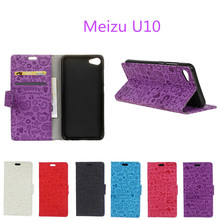 Hot Selling For Meizu U10 Case 5.0inch Cartoon Wallet Style Phone Cover Case with Card Holder Fundas For Meizu U10