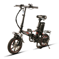 Samebike 14 25km/h Carbon Steel Foldable Electric Bicycle 48V 12.5AH 350W Electric Bike with LCD Display