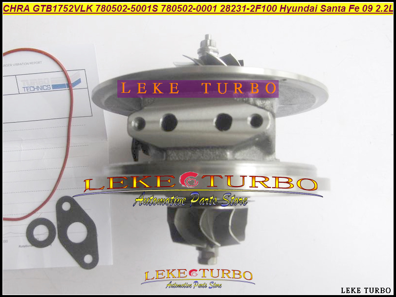 Turbo Cartridge CHRA Turbocharger 780502 7805020001 780502 5001S 780502 0001 28231 2F100 For KIA Sedona Sorento Carnival VQ CRDi bv43 5303 970 0144 53039880122 chra turbine cartridge 282004a470 original turbocharger rotor for kia sorento 2 5 crdi d4cb 170hp