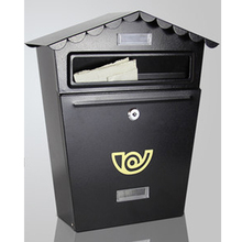 Small House Mailbox Simple Fashion Design Post Box for Letter Newspaper Card Storage With Lock