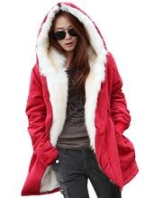 Женщины Леди Длинное Пальто С Капюшоном Руно Теплый Толстый Случайный Верхняя Одежда Стильный
