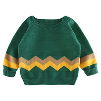2018 Boys Girls Knitted Pullover Sweater Wave Striped Baby Kids Sweaters Soft Infantil Spring Autumn Children