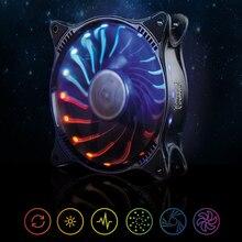 PC Cooler 12V 12CM 18LED RGB Light  PC Cooling Fan Cooler Deep Silence Quiet