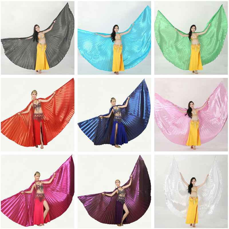 2017 İsti Qadınlar Belly Dance Isis Qanadları Orijinal Dizayn Çubuqlarsız Yeni Qanadlar 9 Rəngli isti satış