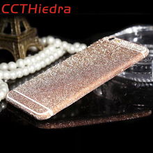 Matte Pink Diamond Sticker case For iPhone 6s 5s 4s 4 5c 6plus SE 7 7 Plus case cover Full Body Protect Bling Glitter Film Decal