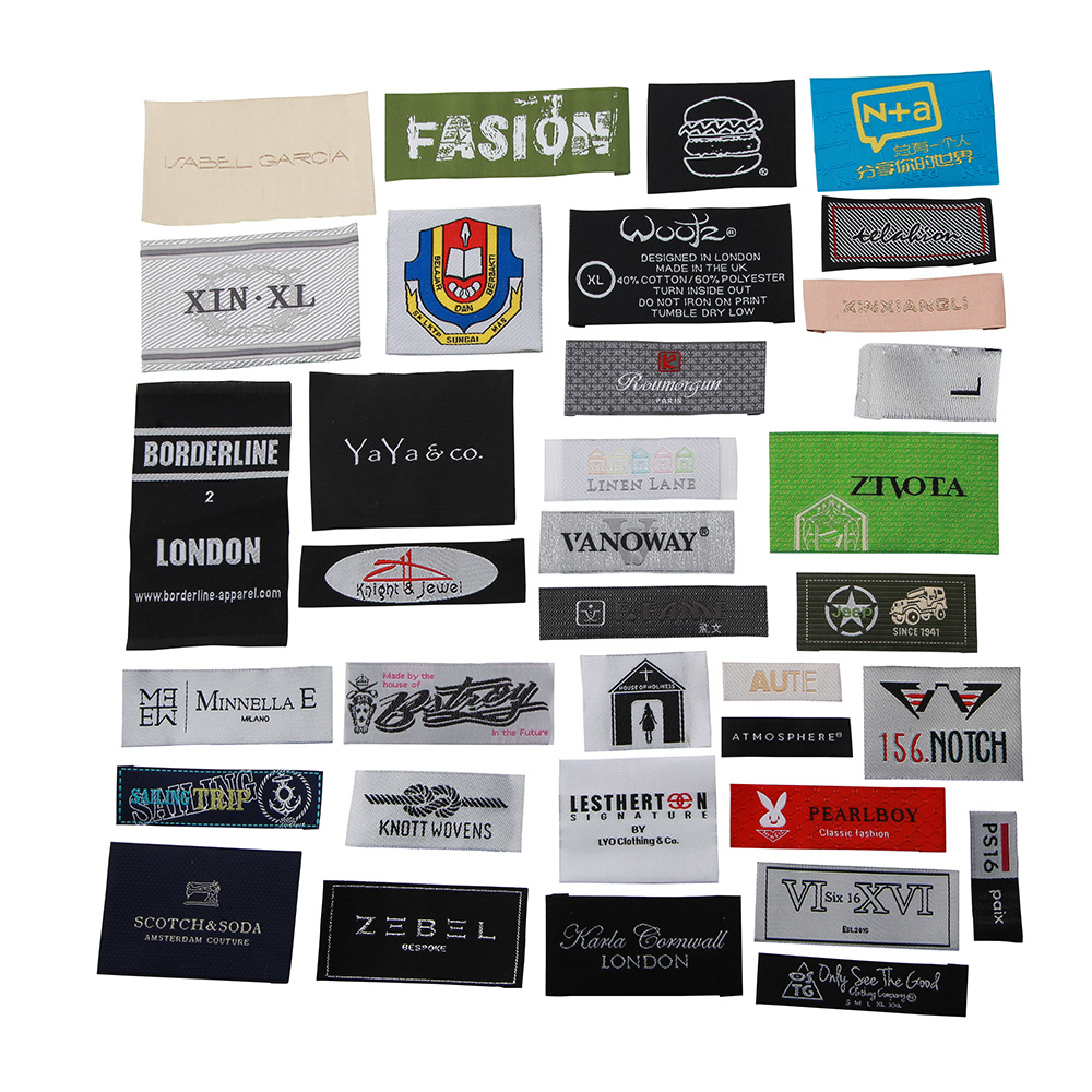 Customized Garment Sewing Tag For Clothing Tags Brand Logo Label Custom Hand Made Woven Labels For Clothes Patchwork Acessorios