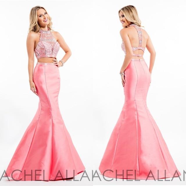 Aliexpress.com : Buy Long Pink/Coral/Purple/Black/Blue Prom Dresses ...