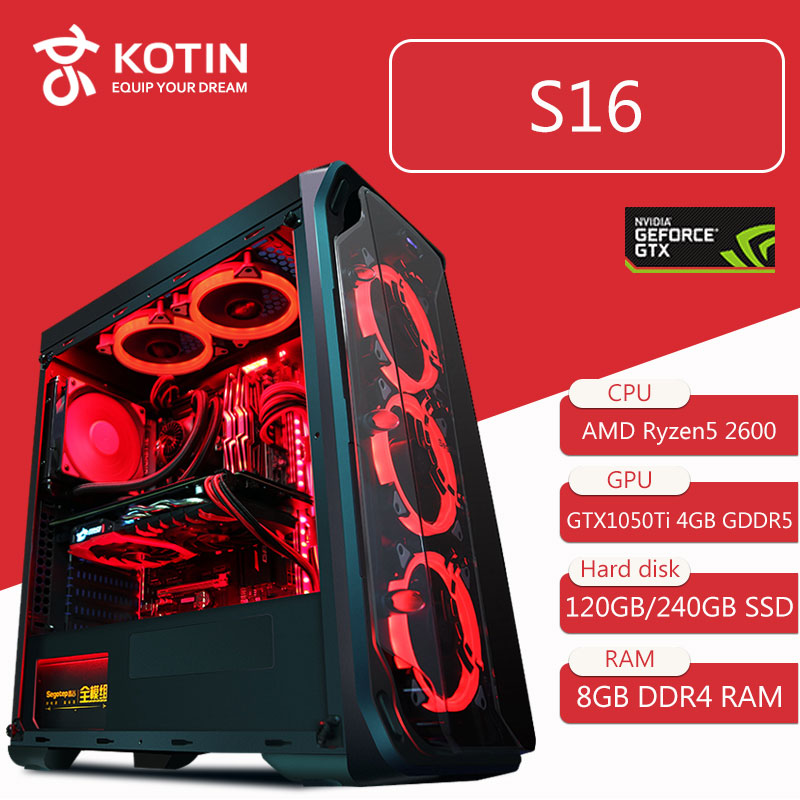 kotin-s16-desktop-computer-gaming-pc-amd-ryzen5-2600-120gb-240g-ssd-pubg-pc-400w-psu-5-red-led-fans-remote-control-light-bar