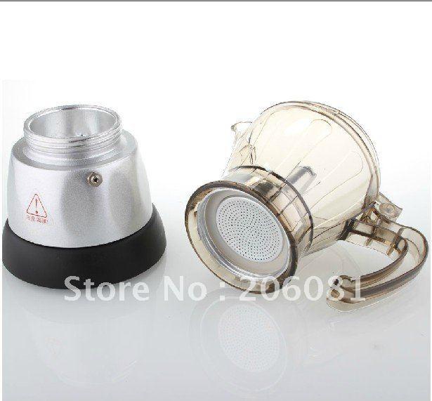 Автоматическая электрическая плита Эспрессо кофеварка, 4 чашки, кофе мокко, простой в использовании и безопасности, элегантный дизайн для настоящего времени