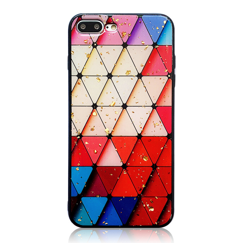 KIPX1087_6_JONSNOW Phone Case for iPhone 6S 7 8 Plus XS XR XS Max Beautiful Colorful Pattern Tempered Glass Back Cover Cases